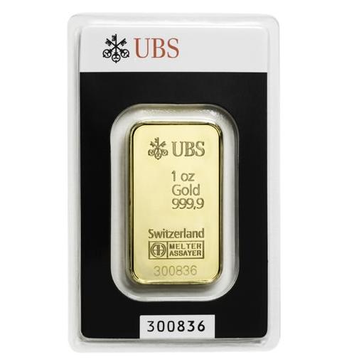 Ubs 瑞士銀行 幻彩金條 1盎司 網上價格 黃金條塊 金條商品 詮美珠寶 網上商店