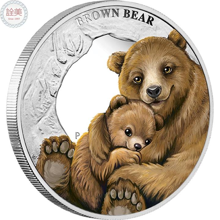 棕熊銀幣盒裝【1/2盎司】