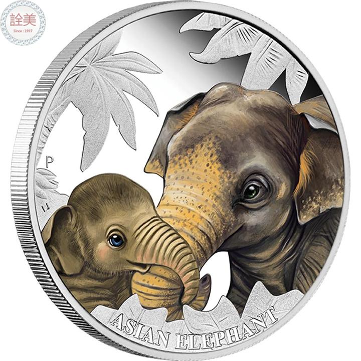 亞洲象銀幣盒裝【1/2盎司】