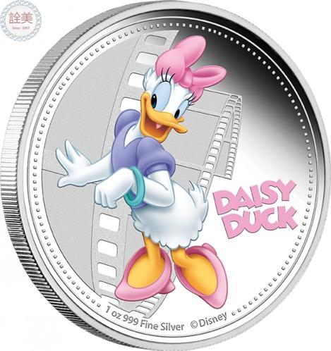 米奇與朋友們系列-黛絲鴨精鑄銀幣