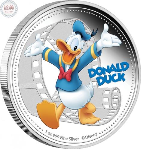 米奇與朋友們系列-唐老鴨精鑄銀幣