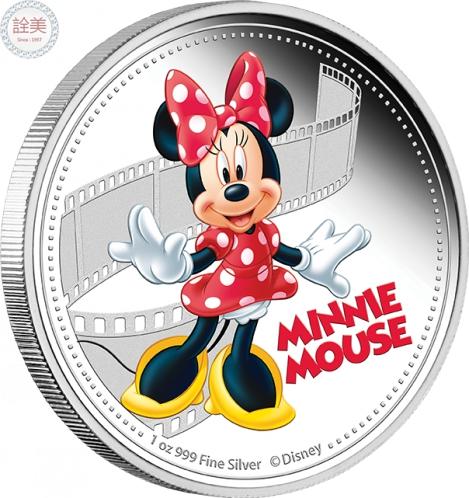 米奇與朋友們系列-米妮鼠精鑄銀幣