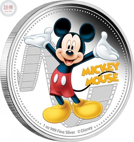 米奇與朋友們系列-米奇鼠精鑄銀幣