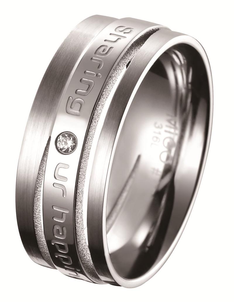 分享 白鋼CZ鑽石戒指(男戒)
