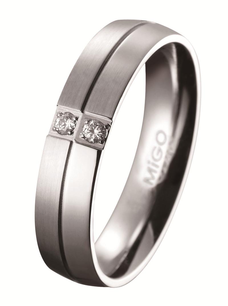 珍愛 白鋼CZ鑽石戒指(男戒)