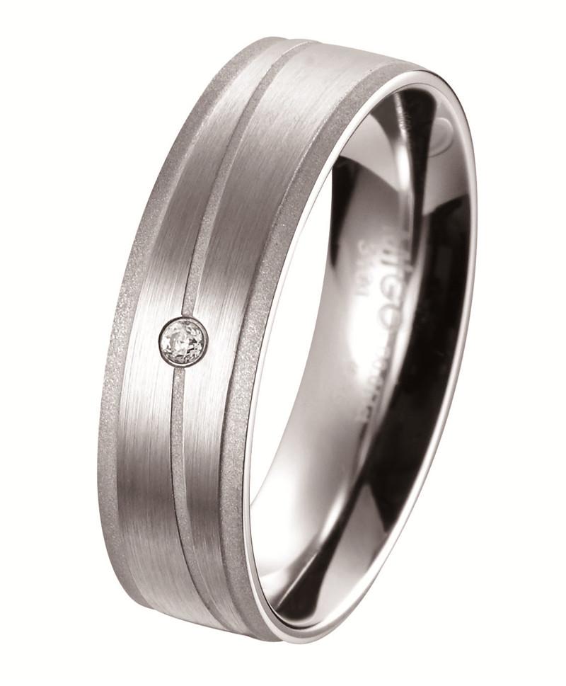 心璇 白鋼鑽石戒指(男戒)