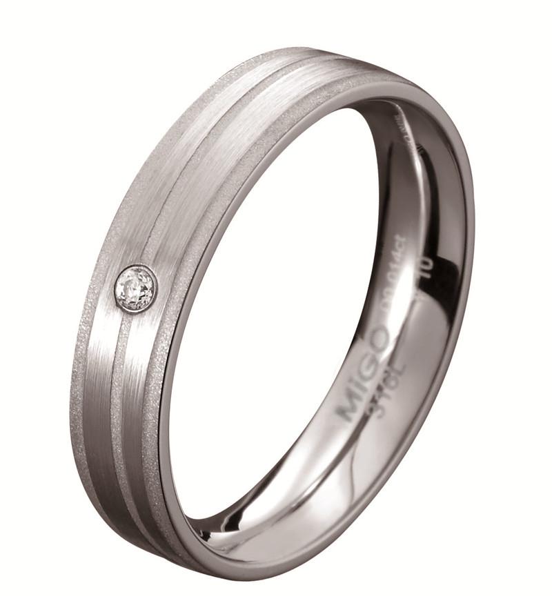 心璇 白鋼鑽石戒指(女戒)