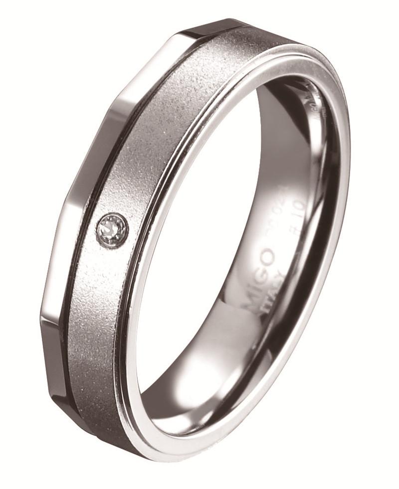 愛的時光 白鋼鑽石戒指(女戒)