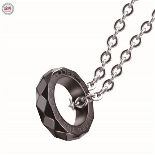 摯愛-戒指項鍊 黑-鑽石