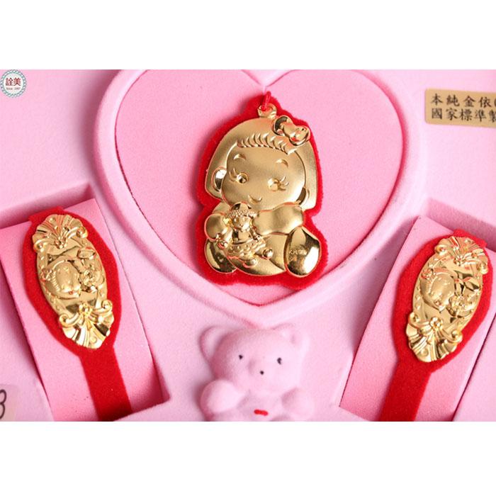 彌月黃金如意小美女音樂盒【3分】