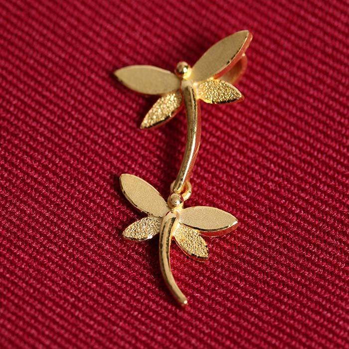 蜻蜓 黃金墜飾