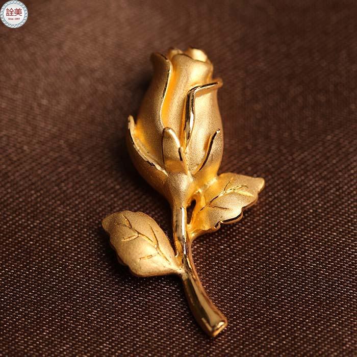 玫瑰情 黃金墜飾