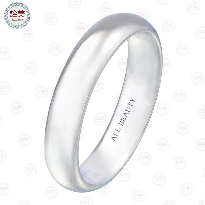 白金光圈精典婚戒【男戒】