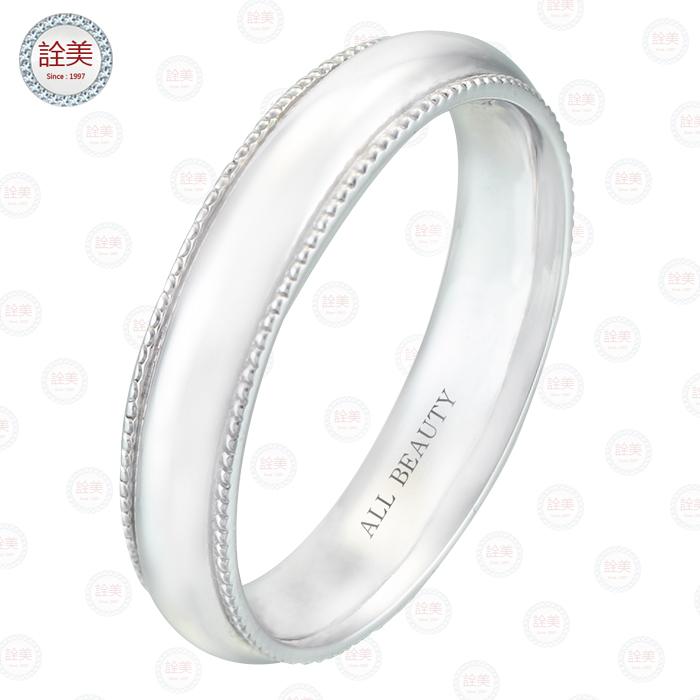 情比石堅-鉑金戒指【男戒】