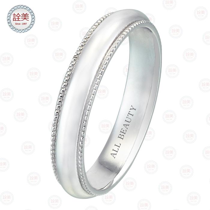情比石堅-鉑金戒指【女戒】