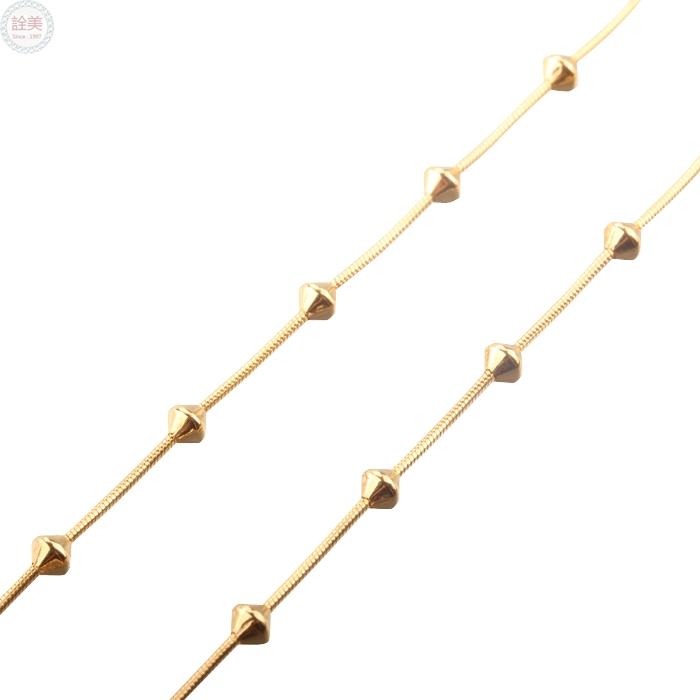 黃金項鍊【金珠蛇鍊】