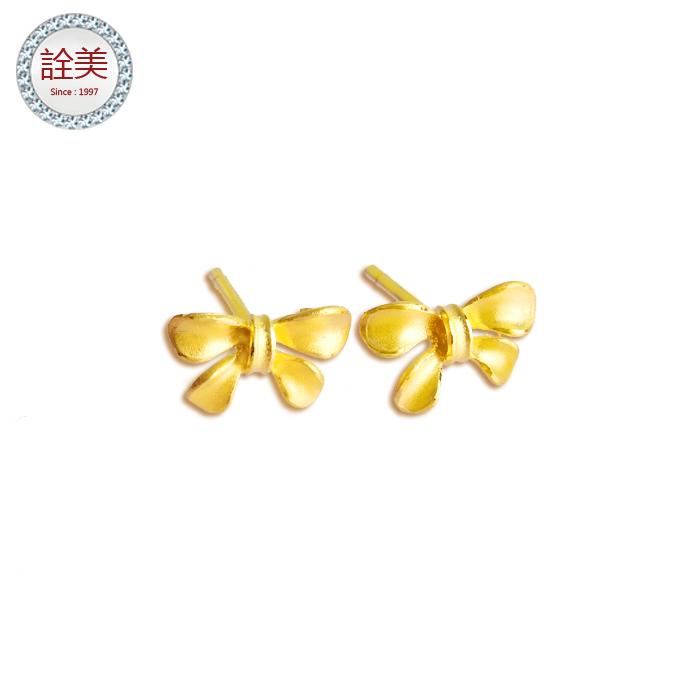 黃金蝴蝶結耳環