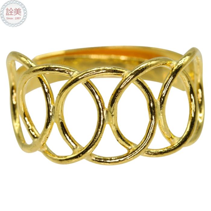 黃金戒指【圓圈線造型戒】